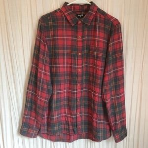 Hurley Men's Vedder Plaid Flannel Shirt Size M